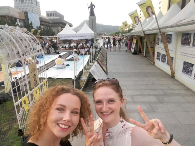 Mig og Sofie i Seoul